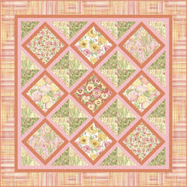 Garden trellis florabunda by benartex garden trellis for Garden trellis designs quilt patterns